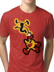 Black and Yellow Tri-blend T-Shirt