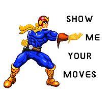 Show me your moves - Captain Falcon Photographic Print
