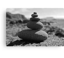 Five Rock Zen Meditation Canvas Print
