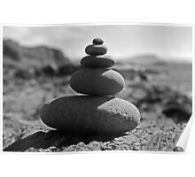 Five Rock Zen Meditation Poster