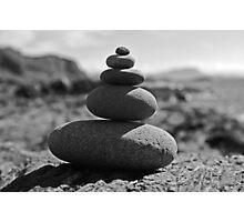 Five Rock Zen Meditation Photographic Print