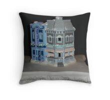 Cinema and Soda Fountain Throw Pillow