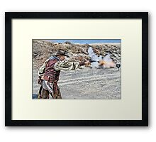 Quick Draw Framed Print
