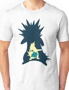 PKMN Silhouette - Cyndaquil Family Unisex T-Shirt