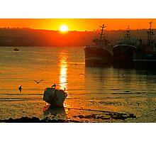 An October Sunset Photographic Print