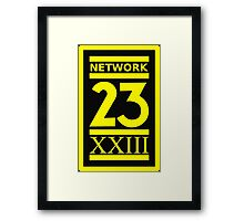 Max Headroom NETWORK 23 Logo Cult Sci-Fi TV Show Framed Print