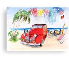 1939 Pontiac Woody:  On San Onofre State Beach (Trestles)  Canvas Print