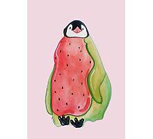 Watermelon Penguin Photographic Print