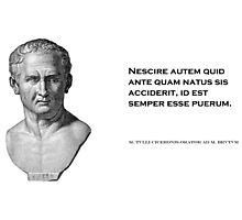 Cicero: Learn History; Grow up Photographic Print