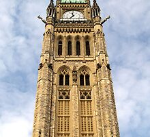 Ottawa, Ontario,  Parliament Buildings Clock Tower by vette