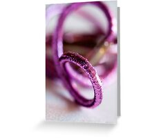 sparkly Pink hair ties - Breast Cancer Awareness Month Greeting Card