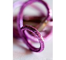 sparkly Pink hair ties - Breast Cancer Awareness Month Photographic Print