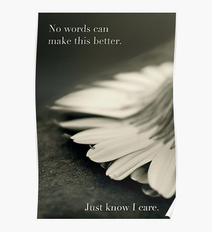 Just Know I Care Poster