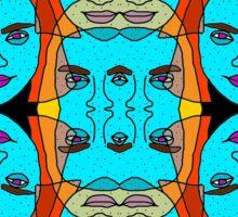 colorful women Sticker