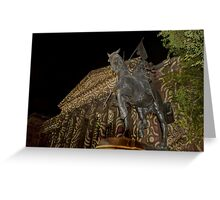 0341 Melbourne - White Night 15 Greeting Card