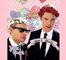 Sassy Cumberbatch and Freeman by itsjohnlock