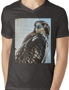 Red Tailed Hawk Mens V-Neck T-Shirt
