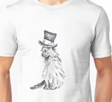 Black Cat in Hat Unisex T-Shirt