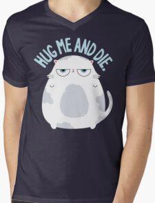 Cats Hate Hugs Mens V-Neck T-Shirt
