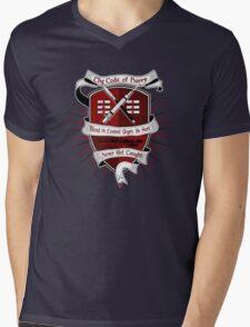 The Harry Code Dark tee (silver)  Mens V-Neck T-Shirt