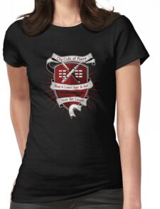 The Harry Code Dark tee (silver)  Womens Fitted T-Shirt