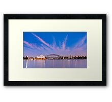 Sydney Harbour Sunrise Framed Print