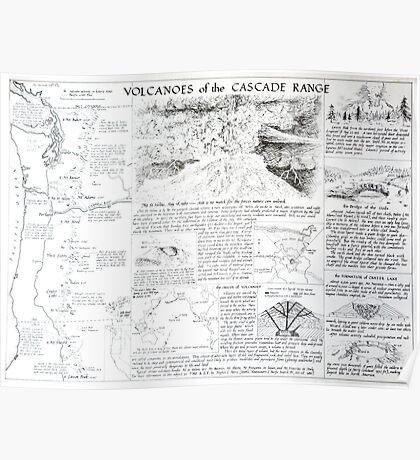 Volcanoes of the Cascade Range Poster