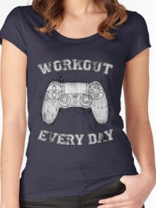 Workout Every Day Women's Fitted Scoop T-Shirt