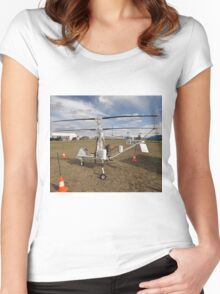Helicopter VH-XRN,Avalon Airshow,Australia 2015 Women's Fitted Scoop T-Shirt