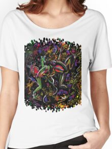 """PSYchedelic Frogs (Radioactive)"" Women's Relaxed Fit T-Shirt"