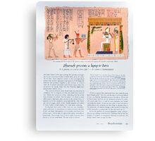 Pharoah Presents A Laptop To Osiris Canvas Print