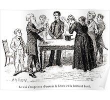 Achille Sirouy Mark Twain Les Aventures de Huck Huckleberry Finn illustration p175 Poster
