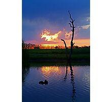 Twilight,Campaspe River,Elmore Victoria Photographic Print