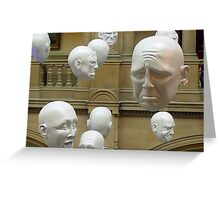 Hanging Heads Greeting Card