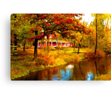 House on Pine River,Wisconsin U.S.A. Canvas Print