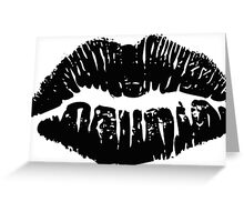 Black Lipstick Greeting Card