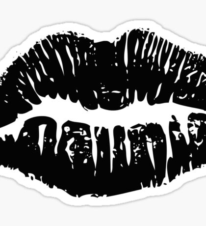 Black Lipstick Sticker