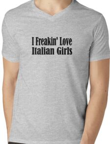 Italian Mens V-Neck T-Shirt