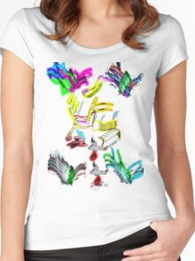 Colors 3 Women's Fitted Scoop T-Shirt