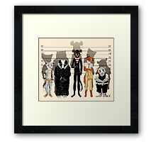 Unusual Suspects Framed Print