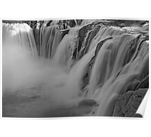Shoshone Falls In B&W Poster