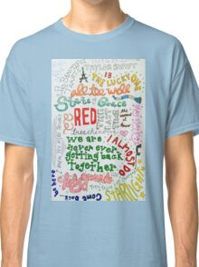 Red Collage Classic T-Shirt