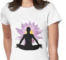 Yoga Lotus Pose - Meditation  Womens Fitted T-Shirt