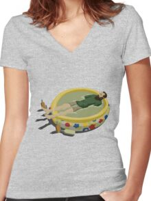 The Last Man on Earth - Margarita Pool Women's Fitted V-Neck T-Shirt