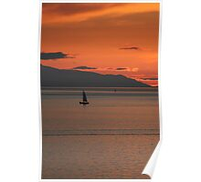 Sunset Sail - English Bay Poster