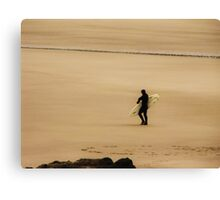 Surfer in Sepia...Oregon Coast Canvas Print