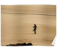Surfer in Sepia...Oregon Coast Poster
