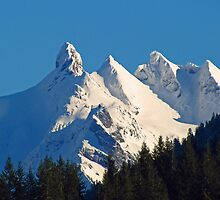 Snow Covered Three Fingers Mountain by beauramsey