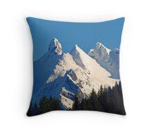 Snow Covered Three Fingers Mountain Throw Pillow