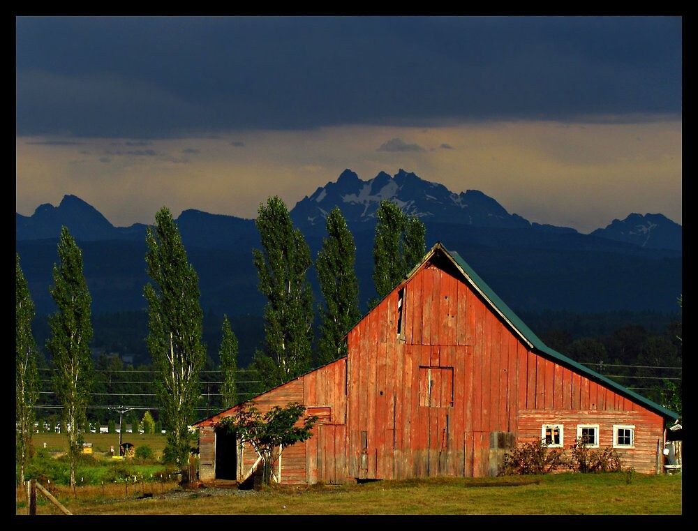 Old Barn and Cascades by beauramsey